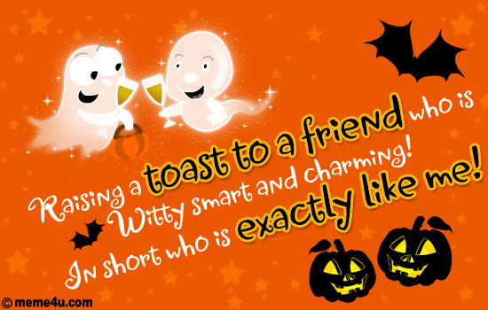 halloween card for friend, halloween party ecard for friend, halloween party greeting for friend