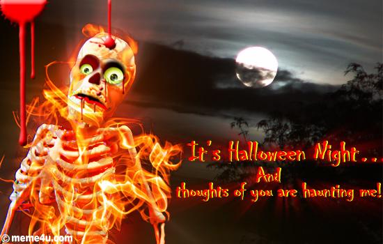 Happy Halloween Card  Halloween Thinking Of You Card  Thinking Of You Hallo...