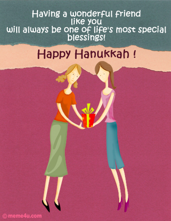 hanukkah gift, hanukkah card with gift, chanukkah gift