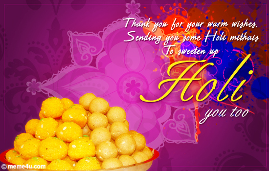 thank you cards,holi thanks cards,holi cards