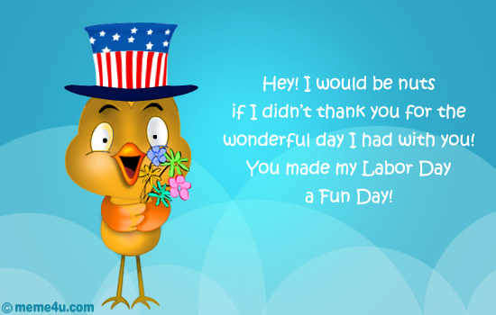 thank you card, labor day thank you ecard, labor day thank you greetings