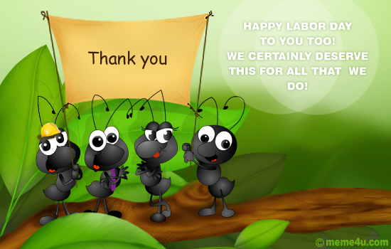 thank you cards, thank you card on labor day, thank you ecard on labor day