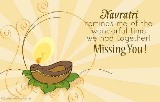 navratri missing you greetings, navratri missing you greeting card, navratri missing you card