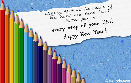 Colors of successnew year business ecards new year business cards new year business greetings business greetings new year business greeting m4hsunfo Gallery