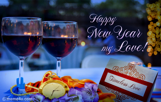 new year love ecards champagne greetings romantic new