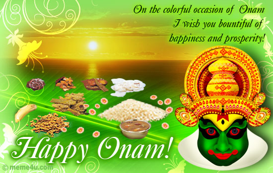 onasadya  onam cards  onam postcards  onam ecards  onam, Greeting card
