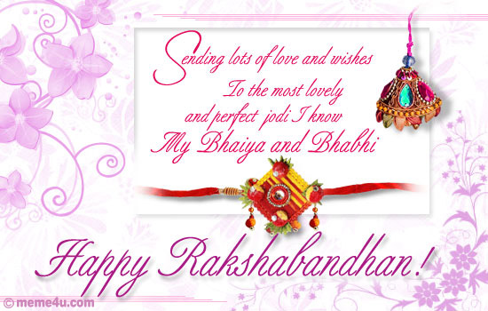 happy raksha bandhan,&nbsp;raksha bandhan ecards for bhai and bhabhi,&nbsp;raksha bandhan greeting cards for bhaiya and bhabhi