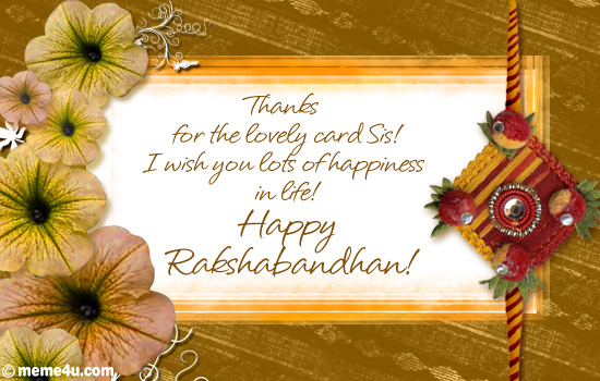rakhi cards, rakhi greeting cards, thank you cards