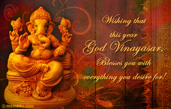 religious tamil new year card, tamil new year ecard, lord ganesha ecards