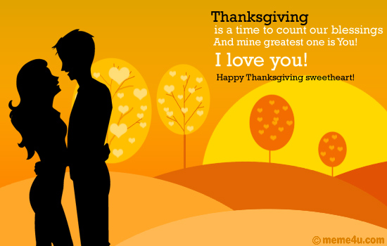 thanksgiving i love you card, thanksgiving i love you ecard, thanksgiving i love you greeting card