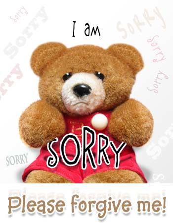 sorry, i am sorry, please forgive me card