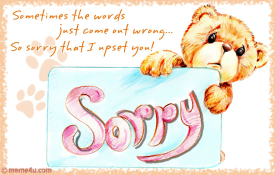Did you hurt a loved one? Say sorry and ask for an apology with the warm and lovely Sorry Cards from MeMe4u.com.,