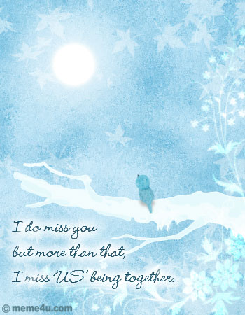 love missing you, love missing you card, love miss you ecard