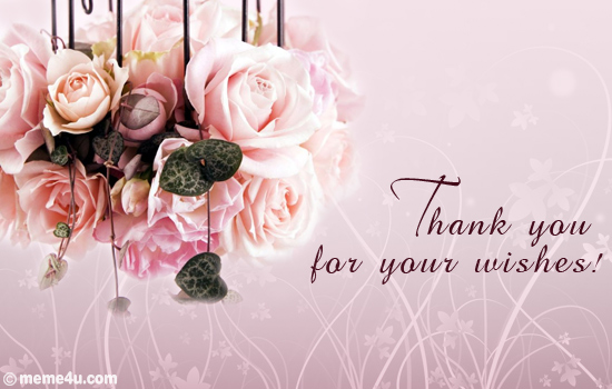 floral thank you card, floral thank you ecard, floral thank you greeting card