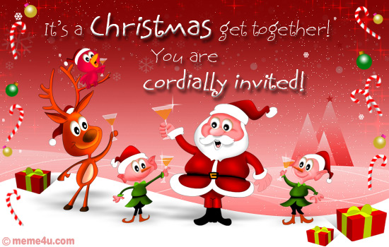christmas get together invitation card, christmas get together invitation ecard, christmas get together invitation greeting card